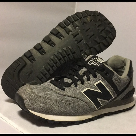 meet c9413 b8bb9 New Balance Men's 574 Black Suiting Shoes 10